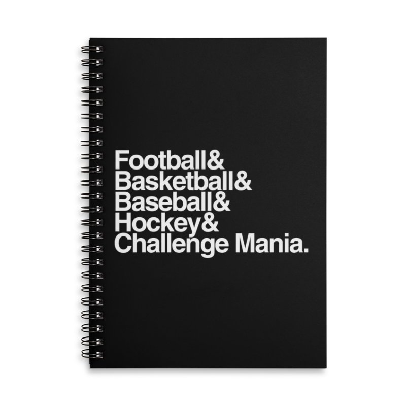 Fifth Sport (White) Accessories Lined Spiral Notebook by Challenge Mania Shop