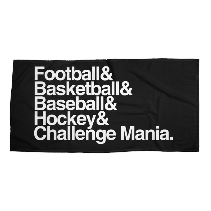 Fifth Sport (White) Accessories Beach Towel by Challenge Mania Shop