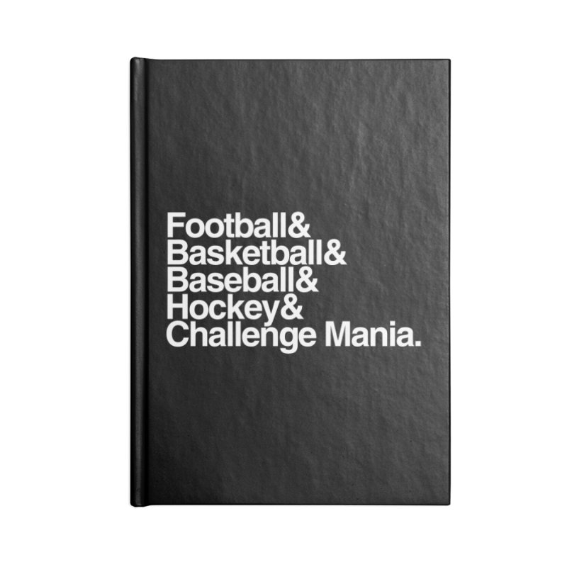Fifth Sport (White) Accessories Lined Journal Notebook by Challenge Mania Shop