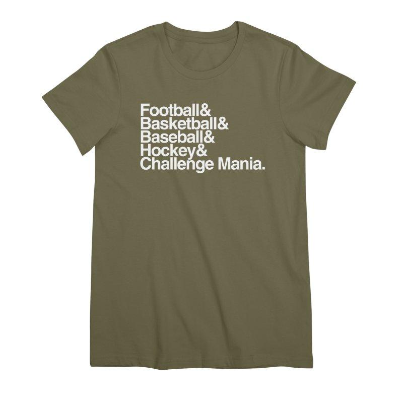 Fifth Sport (White) Women's Premium T-Shirt by Challenge Mania Shop