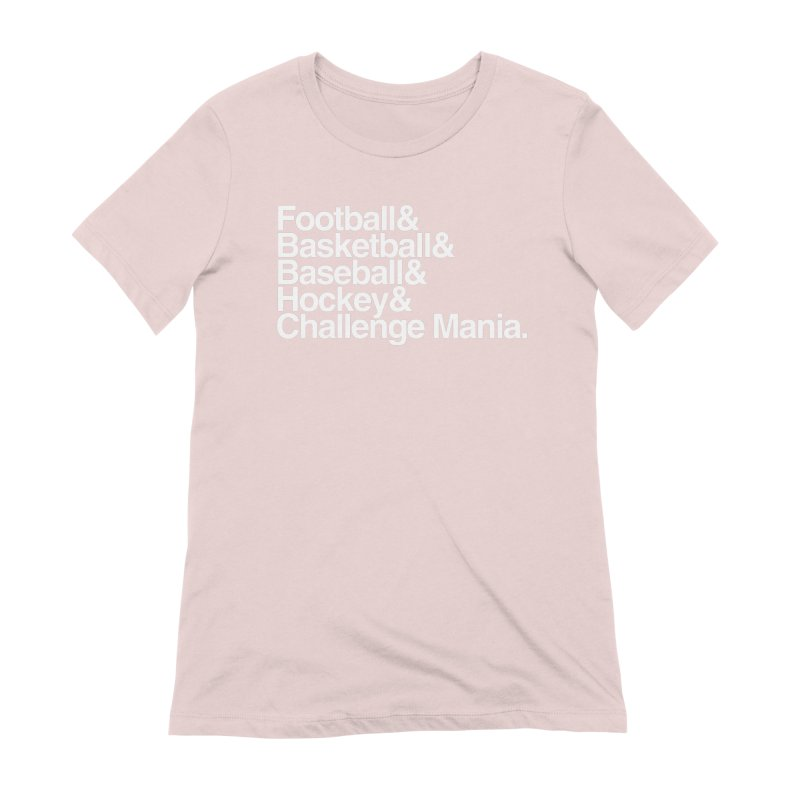 Fifth Sport (White) Women's Extra Soft T-Shirt by Challenge Mania Shop