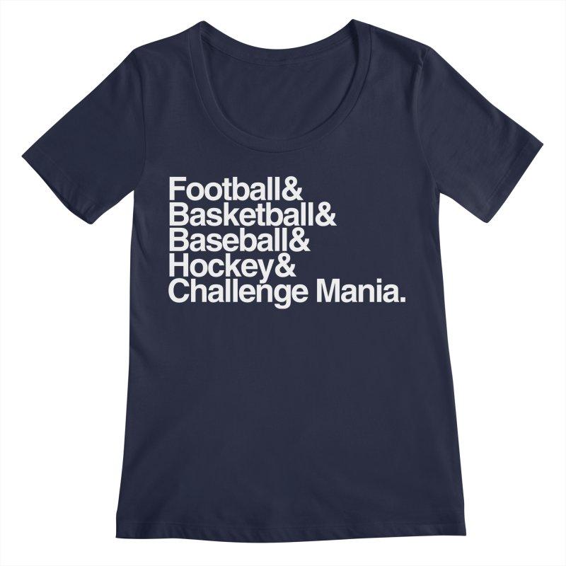 Fifth Sport (White) Women's Regular Scoop Neck by Challenge Mania Shop