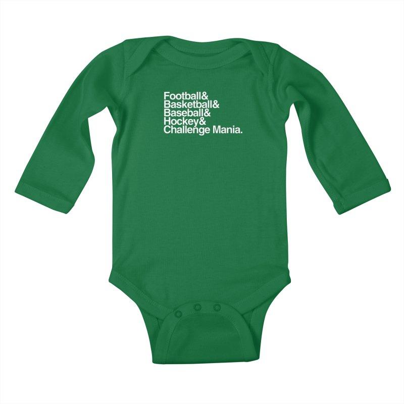 Fifth Sport (White) Kids Baby Longsleeve Bodysuit by Challenge Mania Shop