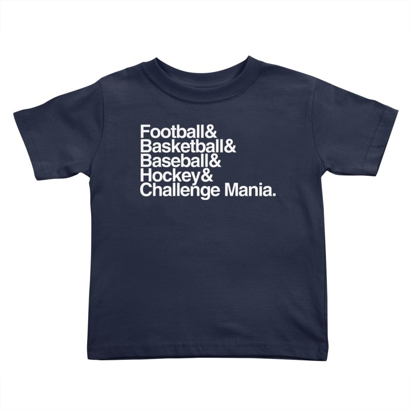 Fifth Sport (White) Kids Toddler T-Shirt by Challenge Mania Shop