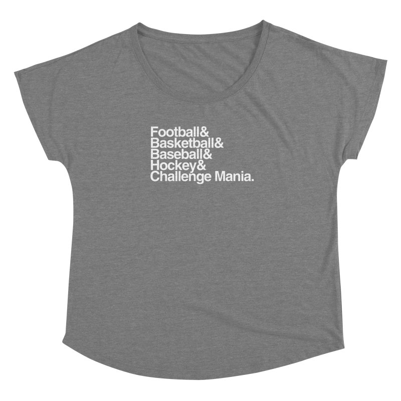 Fifth Sport (White) Women's Dolman Scoop Neck by Challenge Mania Shop