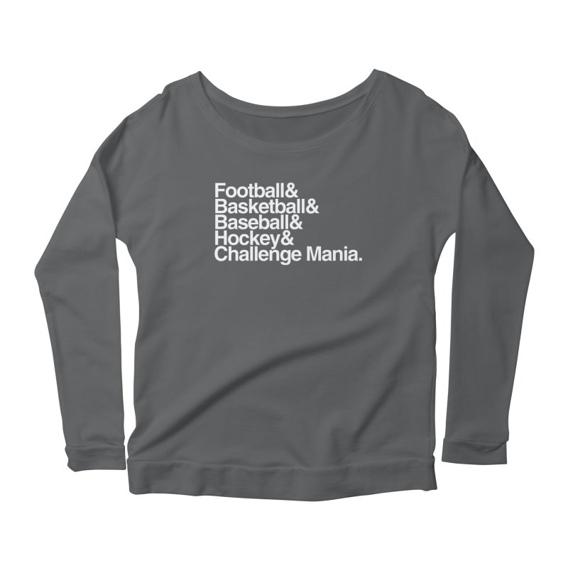 Fifth Sport (White) Women's Scoop Neck Longsleeve T-Shirt by Challenge Mania Shop
