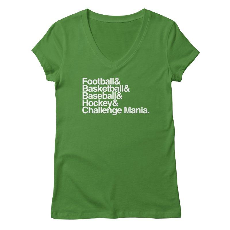 Fifth Sport (White) Women's Regular V-Neck by Challenge Mania Shop