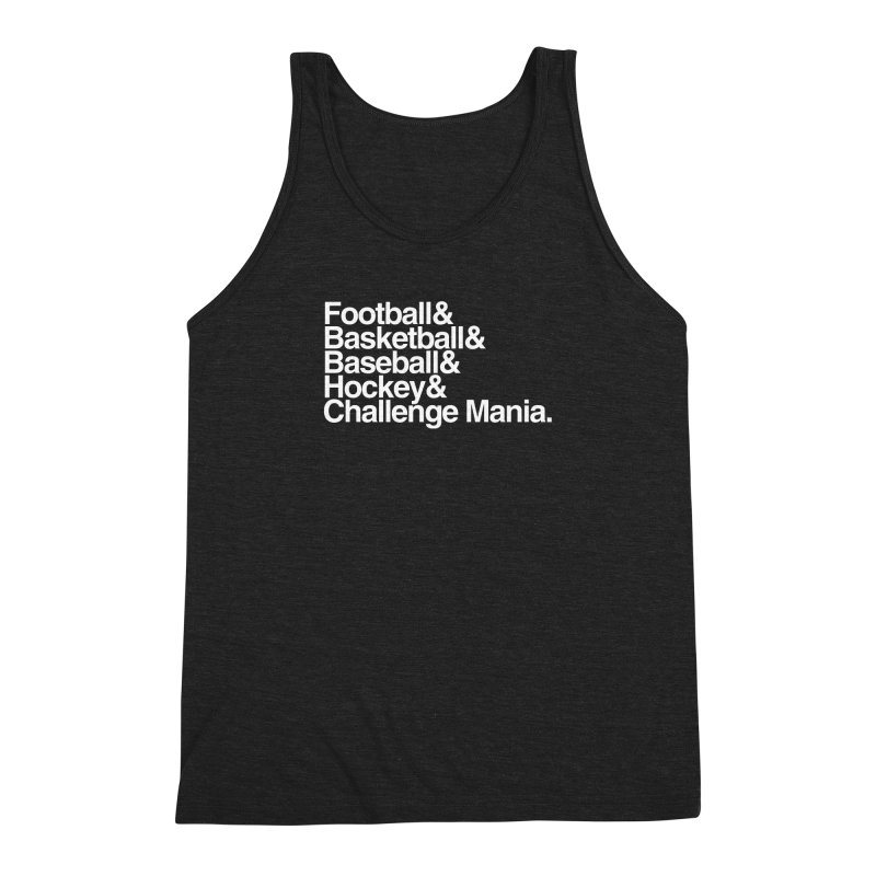 Fifth Sport (White) Men's Triblend Tank by Challenge Mania Shop