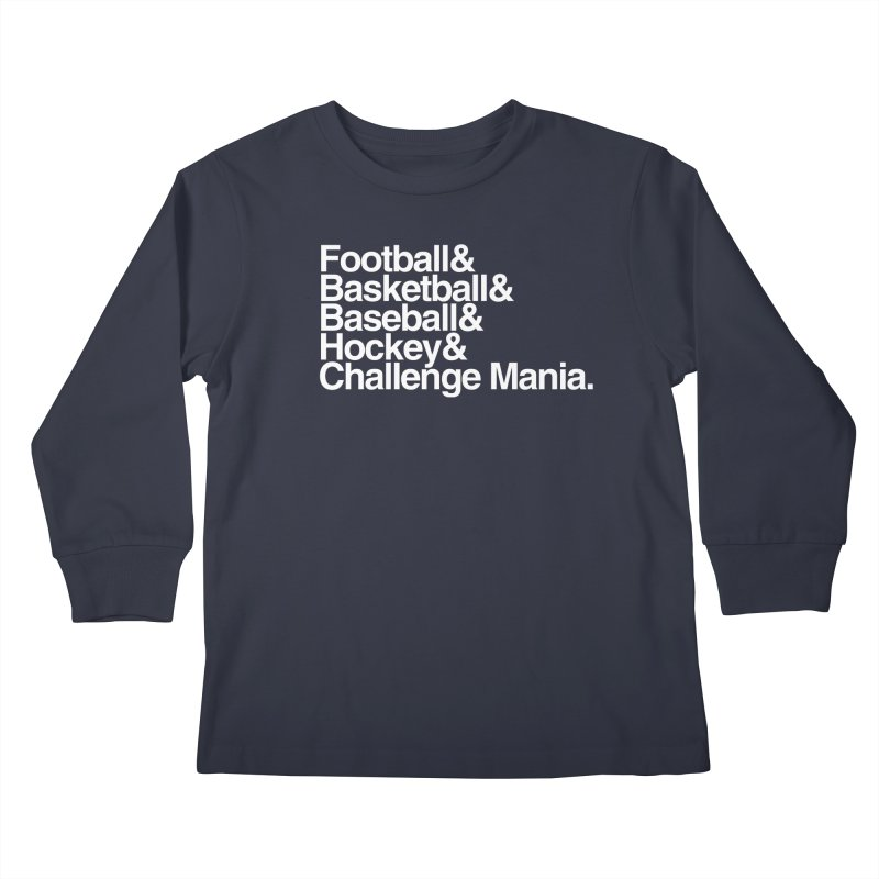 Fifth Sport (White) Kids Longsleeve T-Shirt by Challenge Mania Shop
