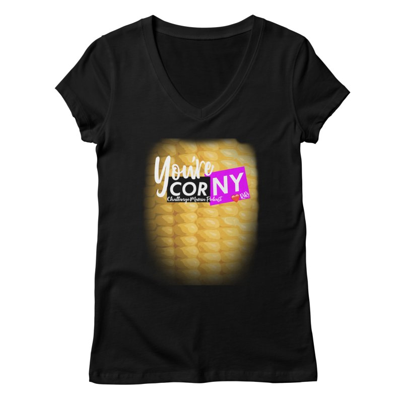 Marie You're Corny Women's Regular V-Neck by Challenge Mania Shop