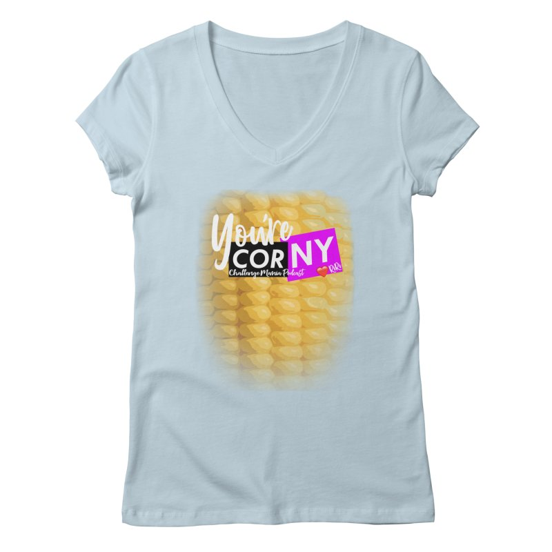Marie You're Corny Women's V-Neck by Challenge Mania Shop