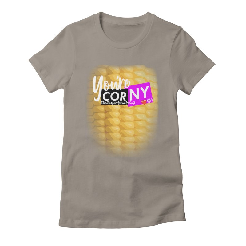 Marie You're Corny Women's Fitted T-Shirt by Challenge Mania Shop