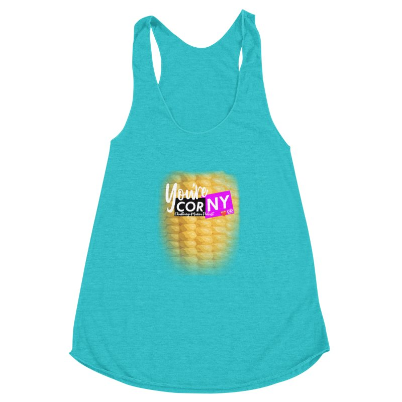 Marie You're Corny Women's Racerback Triblend Tank by Challenge Mania Shop
