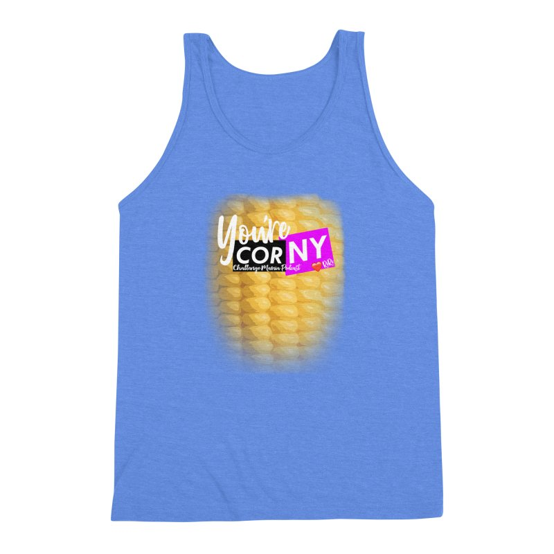 Marie You're Corny Men's Triblend Tank by Challenge Mania Shop