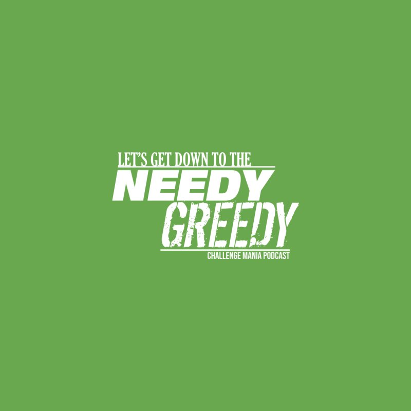 Needy Greedy (White) Accessories Sticker by Challenge Mania Shop