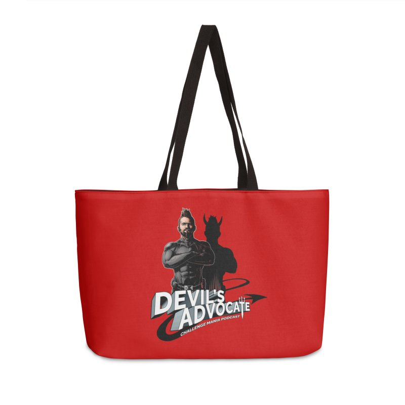 Devil's Advocate Accessories Weekender Bag Bag by Challenge Mania Shop