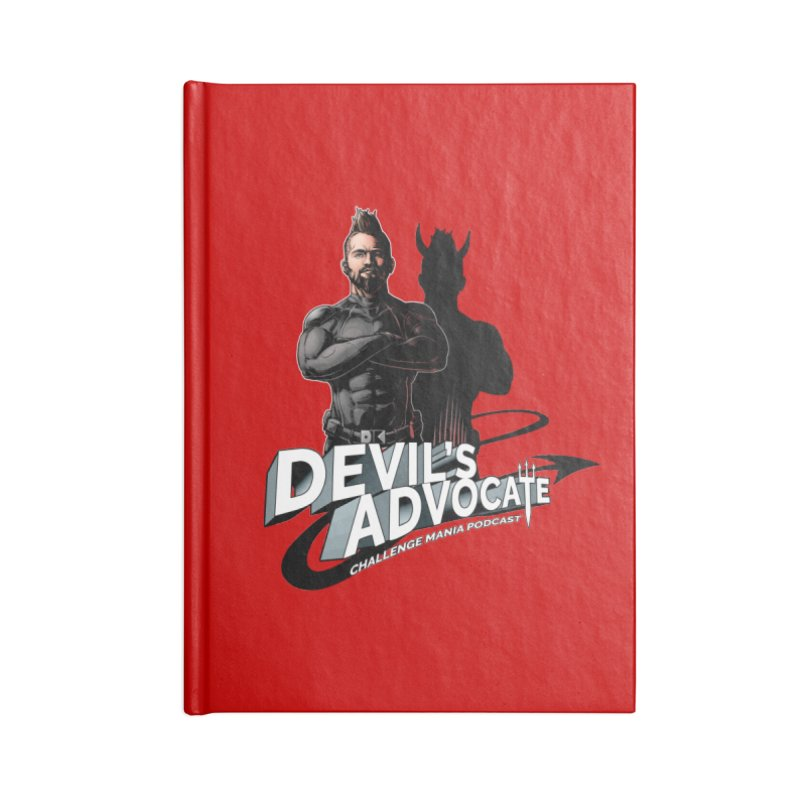 Devil's Advocate Accessories Blank Journal Notebook by Challenge Mania Shop