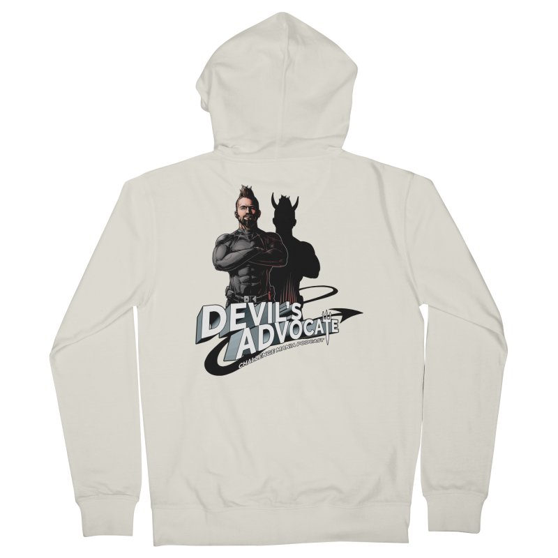 Devil's Advocate Men's Zip-Up Hoody by Challenge Mania Shop