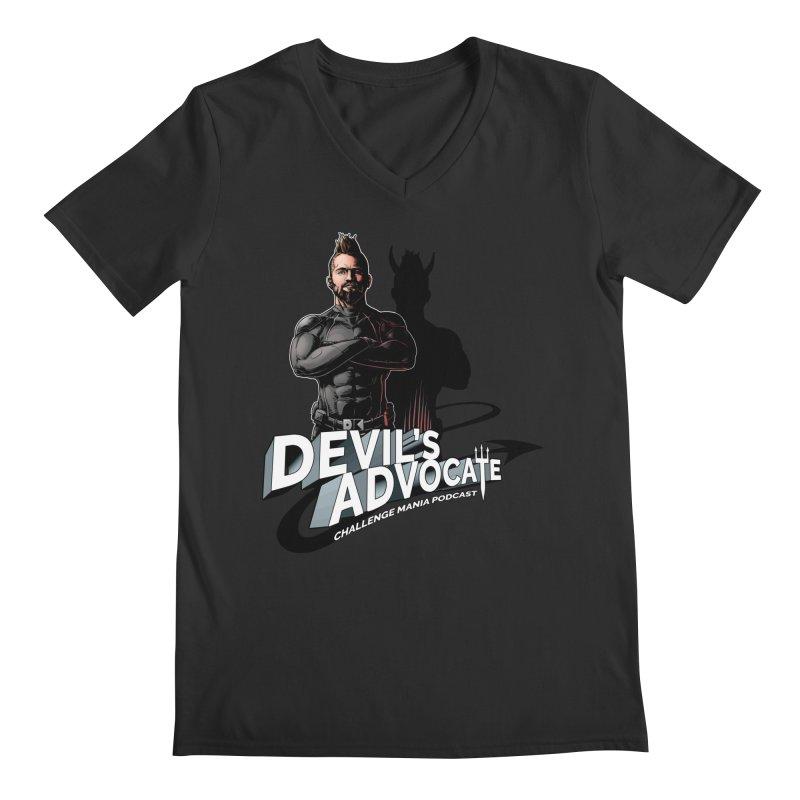 Devil's Advocate Men's Regular V-Neck by Challenge Mania Shop