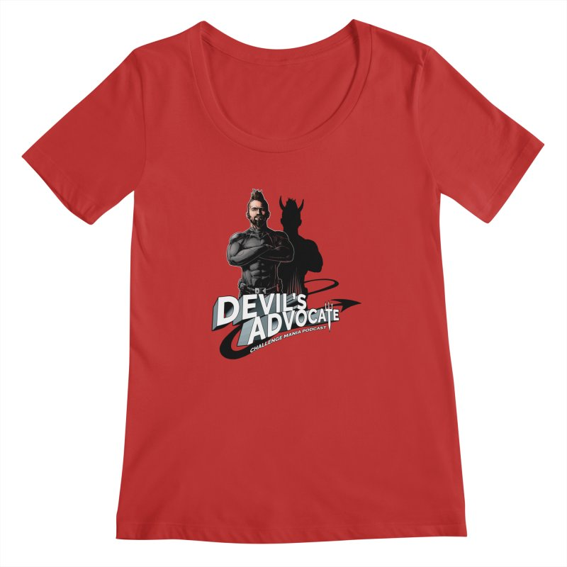 Devil's Advocate Women's Regular Scoop Neck by Challenge Mania Shop