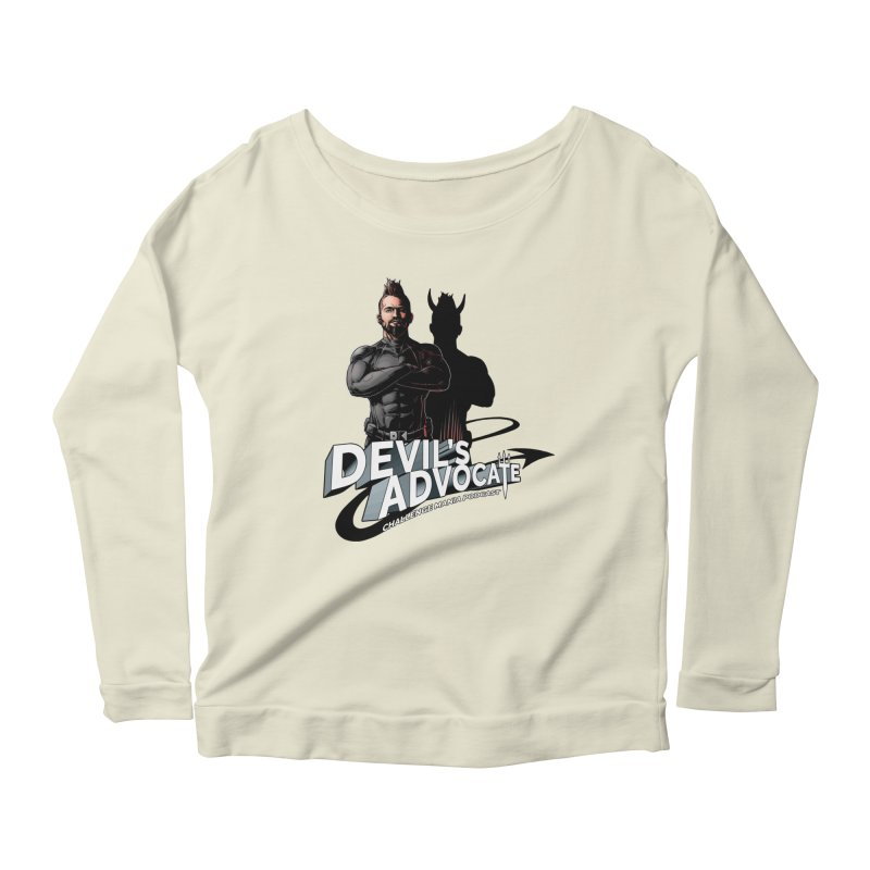 Devil's Advocate Women's Scoop Neck Longsleeve T-Shirt by Challenge Mania Shop
