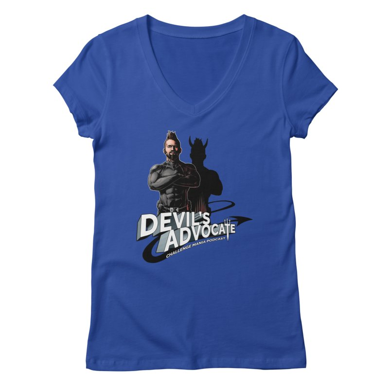 Devil's Advocate Women's Regular V-Neck by Challenge Mania Shop