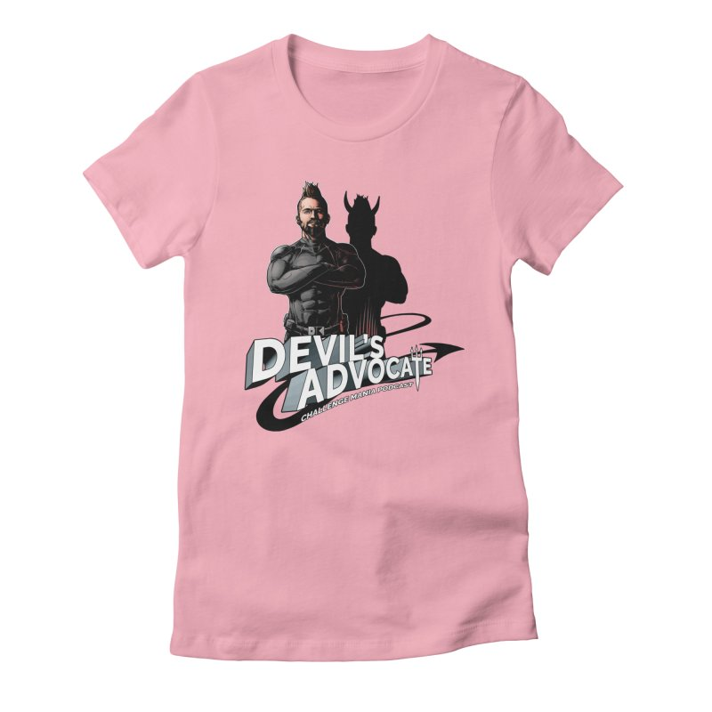Devil's Advocate Women's Fitted T-Shirt by Challenge Mania Shop