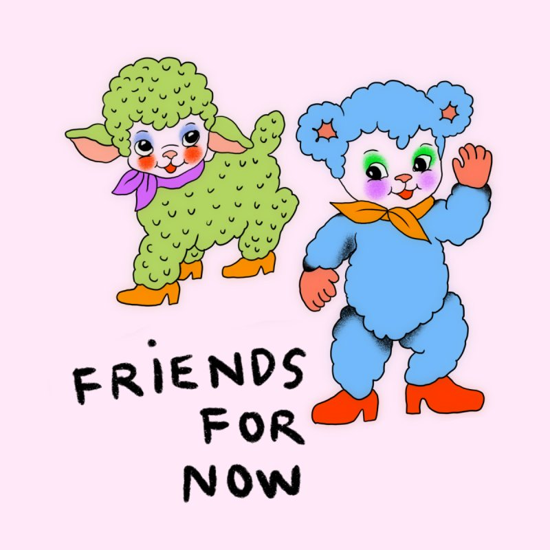 Friends for now Accessories Greeting Card by Char Bataille Artwork