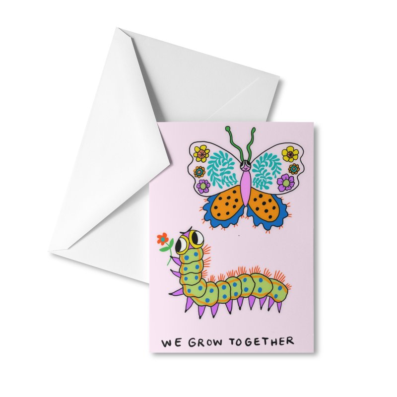 We grow together Accessories Greeting Card by Char Bataille Artwork