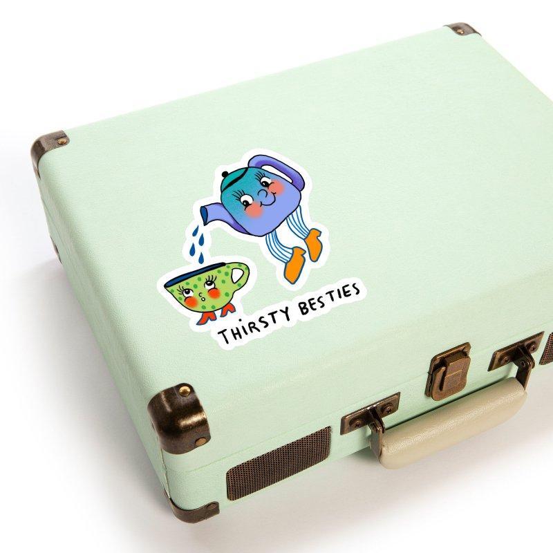 Thirsty besties Accessories Sticker by Char Bataille Artwork