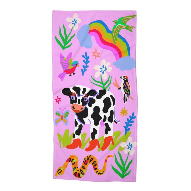 all gender: friends Accessories Beach Towel by Char Bataille Artwork