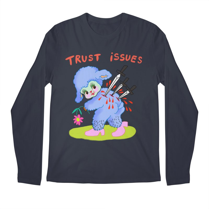 Trust issues Loose fit, all gender Longsleeve T-Shirt by Char Bataille Artwork