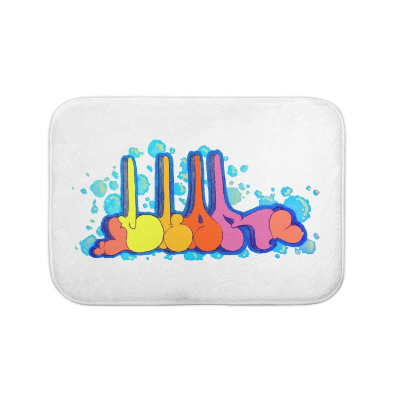 Bubbly Bomb Home Bath Mat by CharOne's Artist Shop