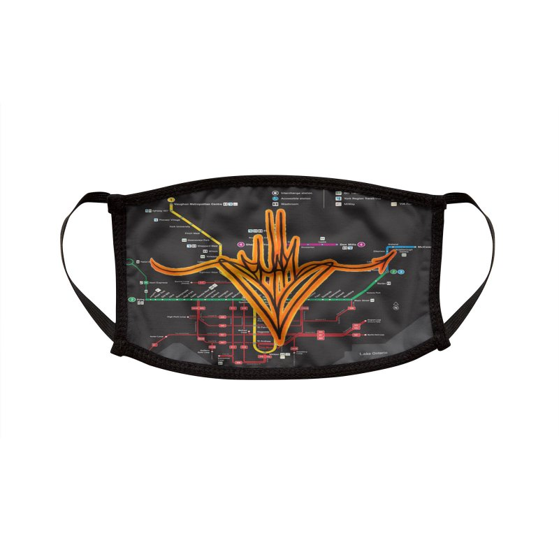Orange Handstyle Accessories Face Mask by CharOne's Artist Shop