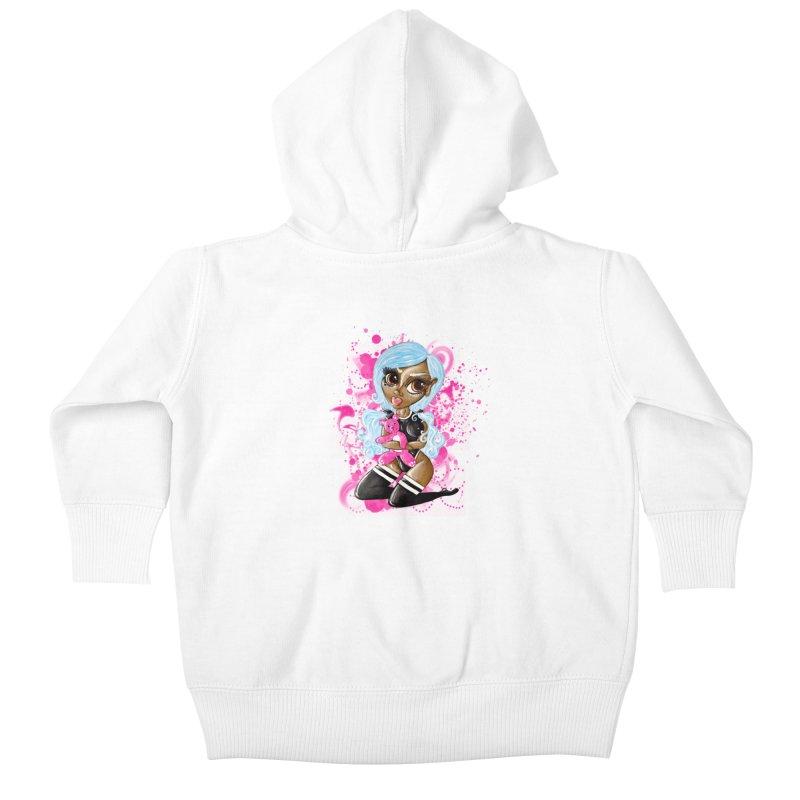 Teddy Love Kids Baby Zip-Up Hoody by CharOne's Artist Shop