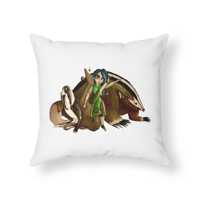 Earthbender Home Throw Pillow by CharOne's Artist Shop