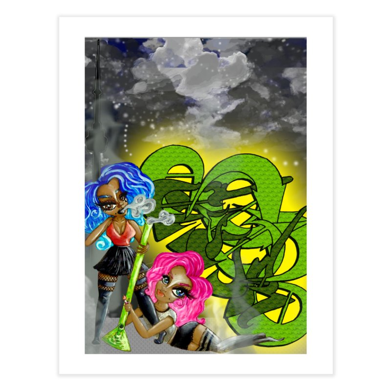 420 Team Players Home Fine Art Print by CharOne's Artist Shop