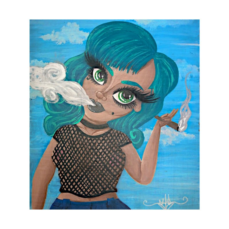 Fishnets and Blunts and Babes, Oh My! Home Fine Art Print by CharOne's Artist Shop