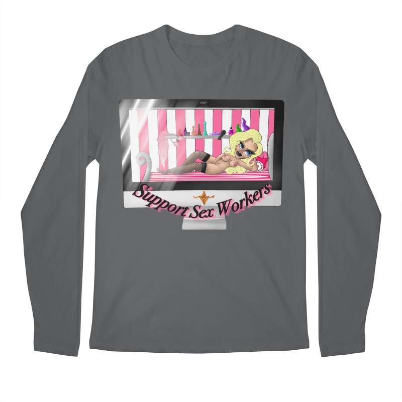 Support Sex Workers: Cam Girl Men's Longsleeve T-Shirt by CharOne's Artist Shop