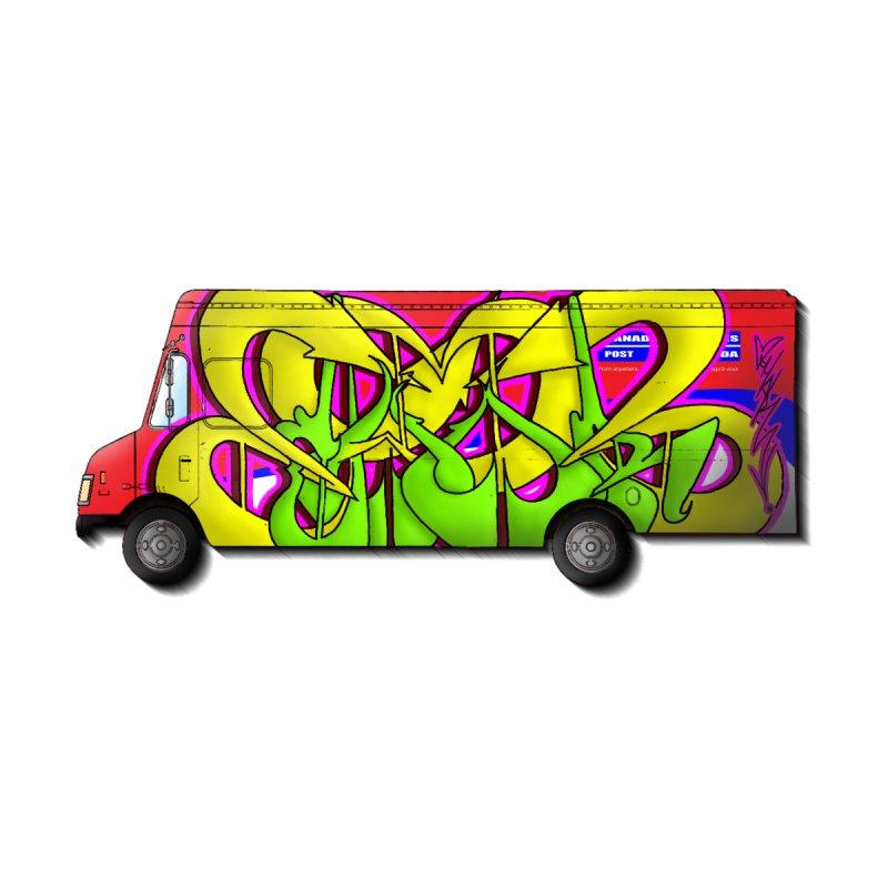 Postal Truck Piece Kids Baby Zip-Up Hoody by CharOne's Artist Shop