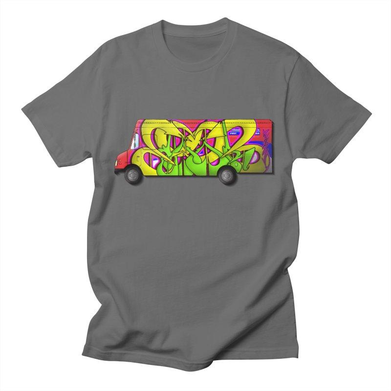 Postal Truck Piece Men's T-Shirt by CharOne's Artist Shop