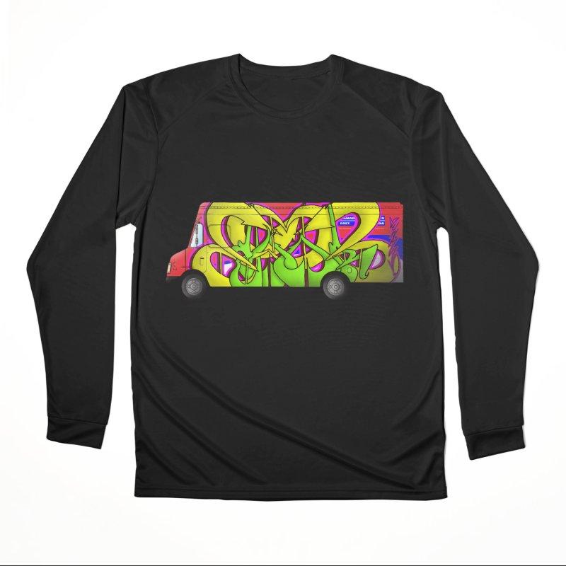 Postal Truck Piece Men's Longsleeve T-Shirt by CharOne's Artist Shop