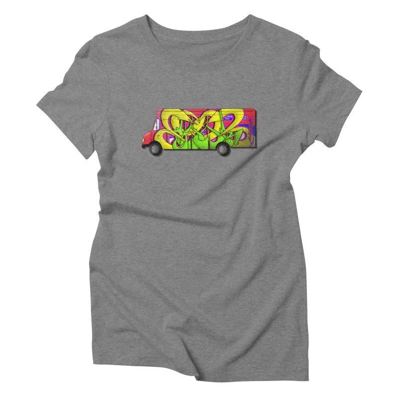 Postal Truck Piece Women's T-Shirt by CharOne's Artist Shop