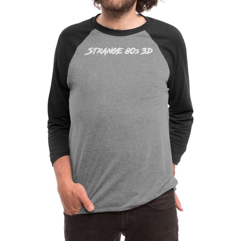 Strange 80s 3D White Men's Longsleeve T-Shirt by Charity Bomb