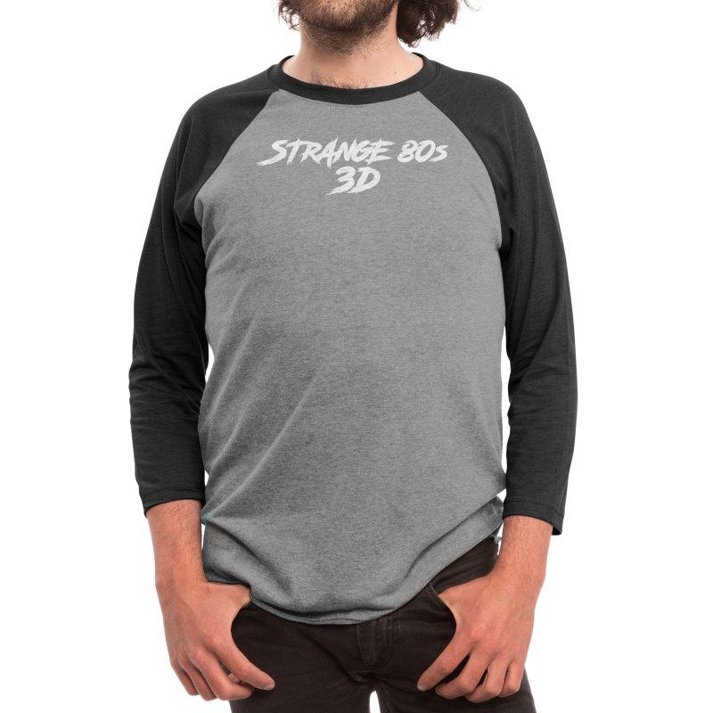 Strange 80s 3D v2 white Men's Longsleeve T-Shirt by Charity Bomb