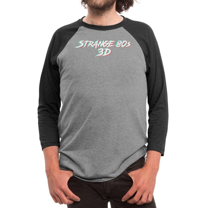 Strange 80s 3D v2 Men's Longsleeve T-Shirt by Charity Bomb