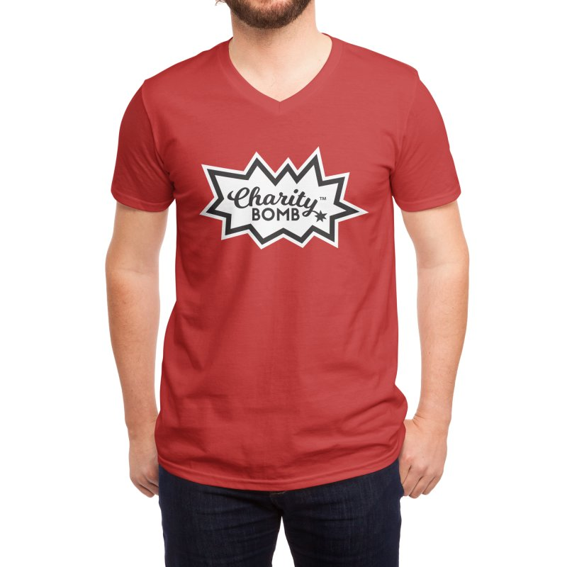 Charity bomb logo Men's V-Neck by Charity Bomb