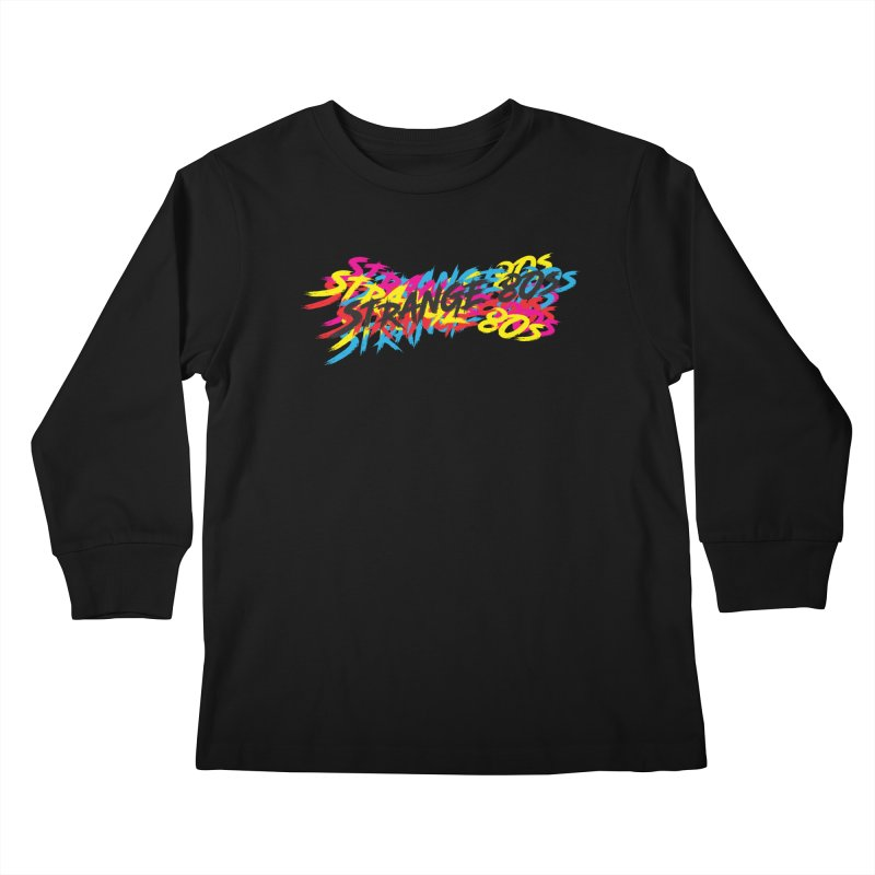 Strange 80s Kids Longsleeve T-Shirt by Charity Bomb