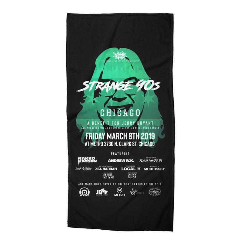 JBTV x Strange 90s Accessories Beach Towel by Charity Bomb