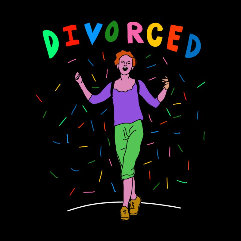 Divorced Loose fit, all gender T-Shirt by Char Bataille Artwork